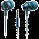CANYON Stereo sluchátka s mikrofonem, kovová,1,2M, modrozelená v hodnotě 129 Kč