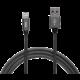 MAX kabel Lightning opletený, 2m, šedá