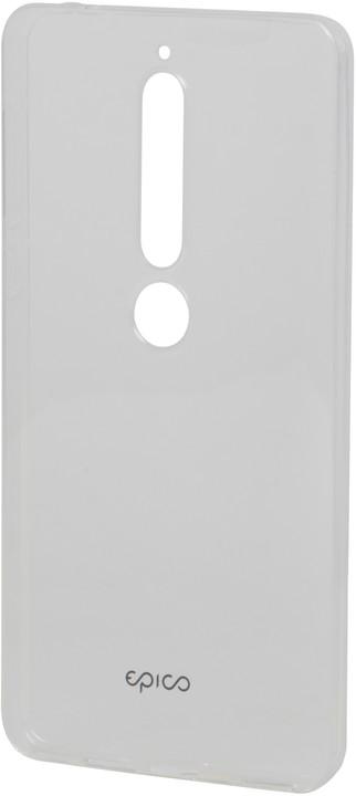 EPICO Pružný plastový kryt pro Nokia 6.1 RONNY GLOSS - bílý transparentní