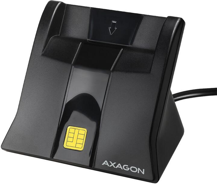 AXAGON CRE-SM4 USB Smart card StandReader (eObčanka), černá