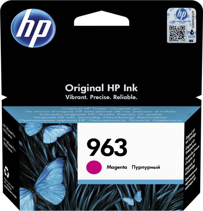 HP 3JA24AE č. 963, magenta