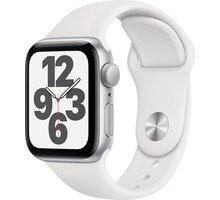 Apple Watch SE, 40mm, Silver Aluminium, White Sport Band