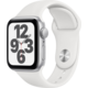 Apple Watch SE, 40mm, Silver Aluminium, White Sport Band
