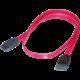 PremiumCord 0,75m datový kabel SATA 1.5/3.0 GBit/s, červená