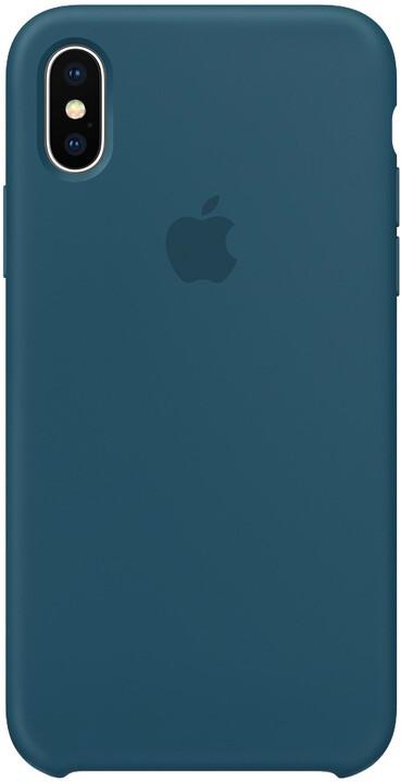Apple silikonový kryt na iPhone 8 / 7, vesmírná modrá
