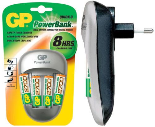 GP Power Quick 3 + 4x AA 2700 mAh
