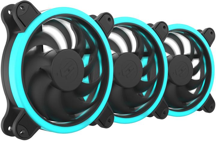 SilentiumPC Sigma HP Corona RGB 120, sada ventilátorů, 3x120mm, RGB LED