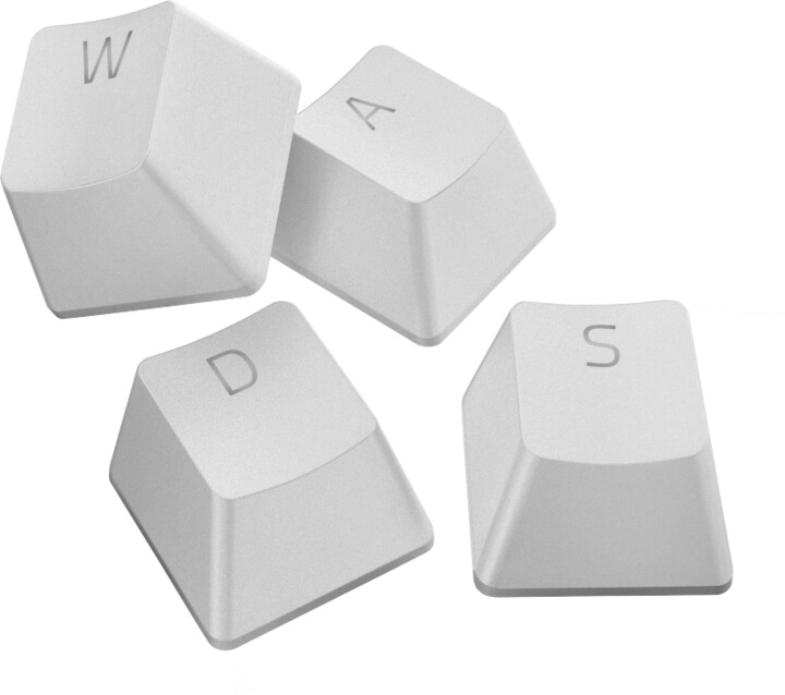 Razer vyměnitelné klávesy PBT Keycap Upgrade Set, 120 kláves, bílé