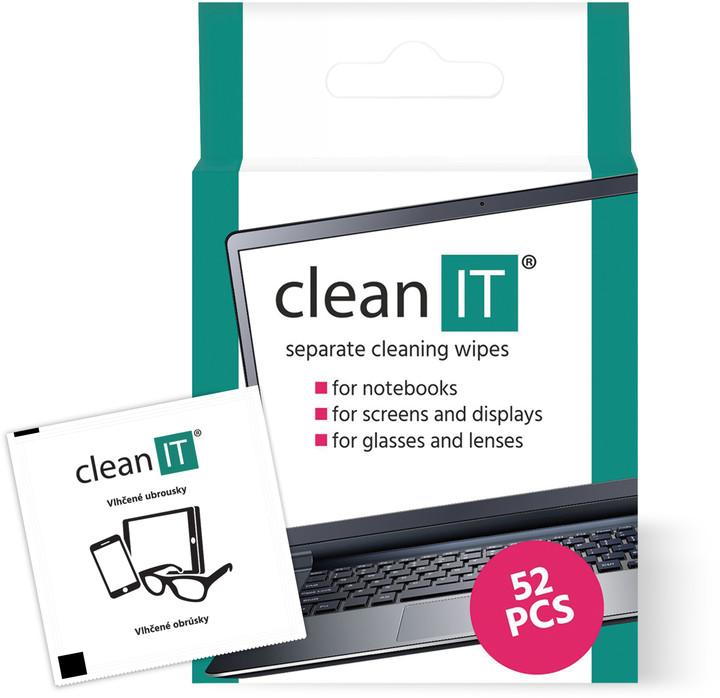 Clean IT čisticí ubrousky mokré kusové 52ks