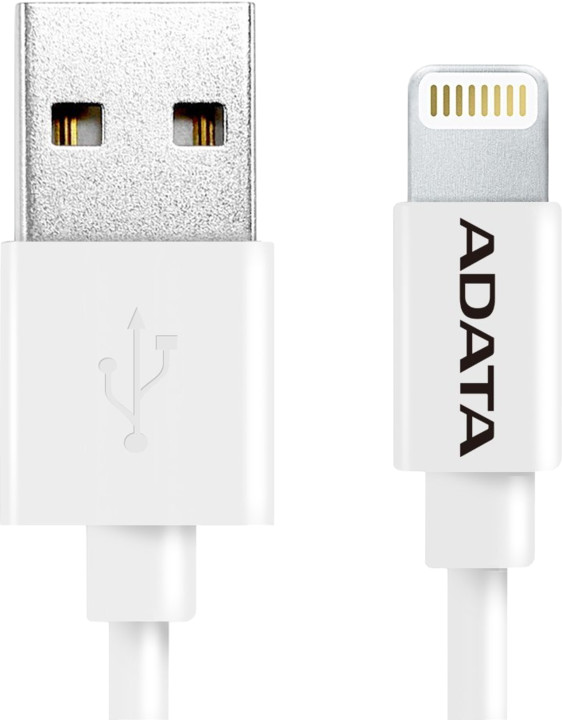 ADATA Synchronizační a napájecí kabel, USB, MFi (iPhone, iPad, iPod), 1m, bílý