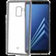 CELLY Laser TPU pouzdro - lemování s matným kovovým efektem pro Samsung Galaxy A8 (2018), stříbrné