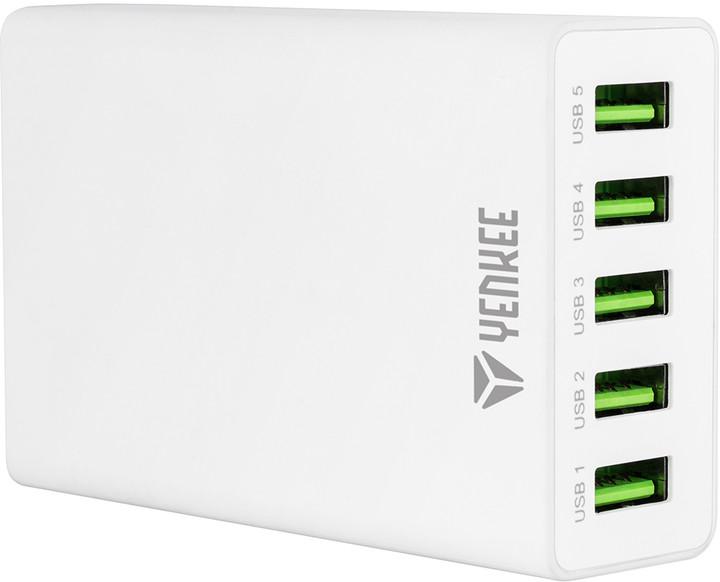YENKEE YAC 3005WH USB nabiječka 5port 8A