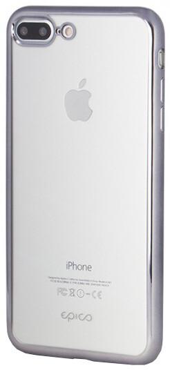 EPICO Pružný plastový kryt pro iPhone 7 Plus BRIGHT - space gray