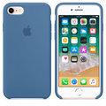 Apple silikonový kryt na iPhone 8 / 7, džínově modrá