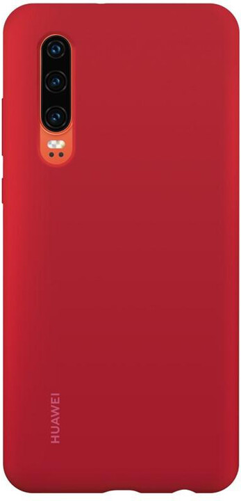 Huawei Original Silikonové Car pouzdro pro P30, červená