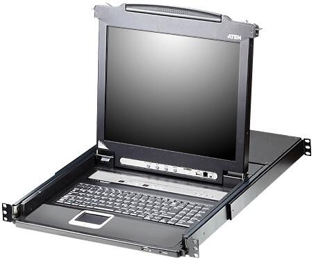 """ATEN CL5716 - 16-portový KVM switch (PS/2 i USB), 17"""" LCD, US klávesnice"""