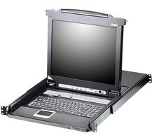 """ATEN CL5716 - 16-portový KVM switch (PS/2 i USB), 17"""" LCD, UK klávesnice - CL5716M-ATA-2XK06UG"""