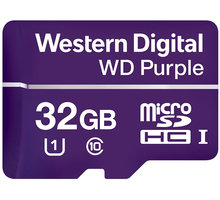 WD Micro SDHC Purple 32GB 80MB/s UHS-I