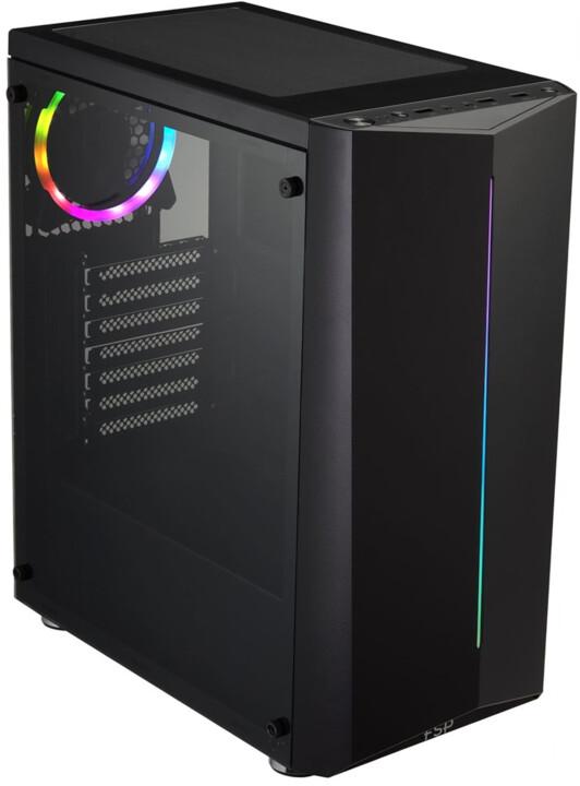 Fortron CMT151, průhledná bočnice, 1x ARGB 120mm, černá