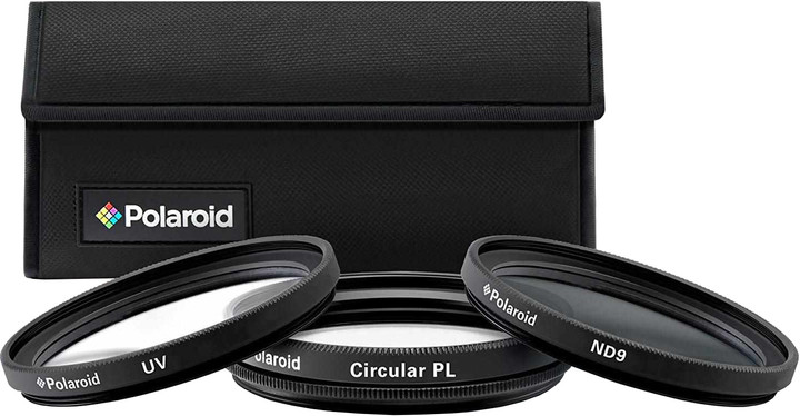 Polaroid Filter Kit 58mm MC UV, CPL, ND9