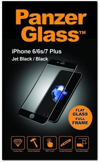 PanzerGlass - Ochrana obrazovky - hluboce černá - pro Apple iPhone 6 Plus, 6s Plus, 7 Plus, 8 Plus