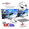 Club3D adaptér Thunderbolt 3 na 2x HDMI