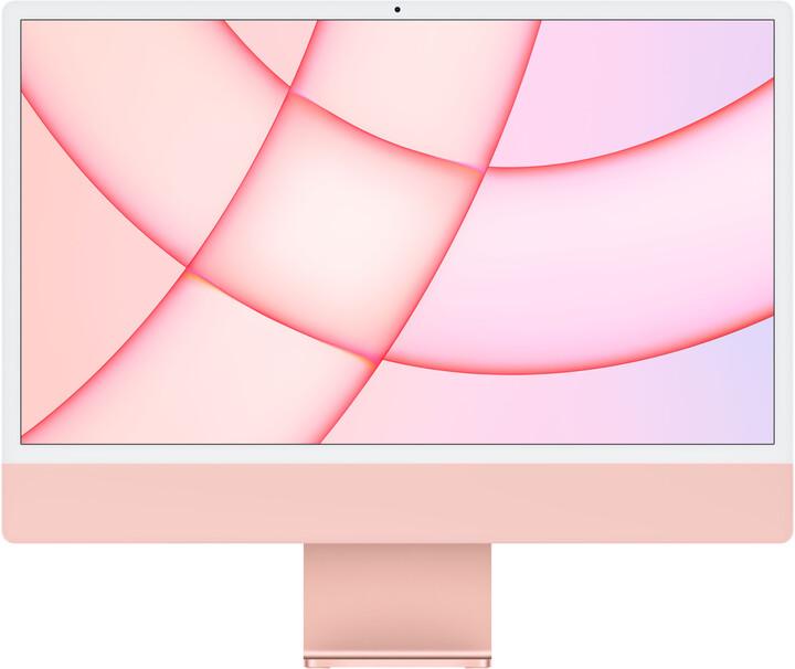 "Apple iMac 24"" 4,5K Retina M1/16GB/512GB/8-core GPU, růžová"