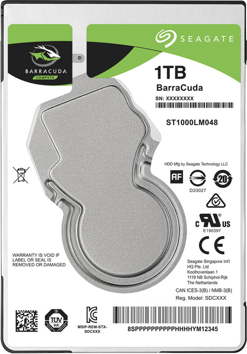 "Seagate BarraCuda, 2,5"" - 1TB"