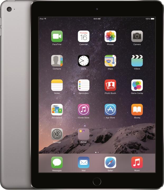 APPLE iPad Air 2, 128GB, Wi-Fi, šedá