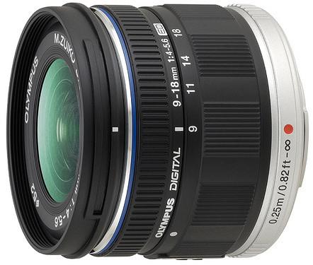 Olympus M. ZUIKO DIGITAL ED 9-18mm F4.0-5.6, černá