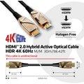 Club3D kabel hybridní optický HDMI 2.0, Ultra High Speed,(M/M), 30m