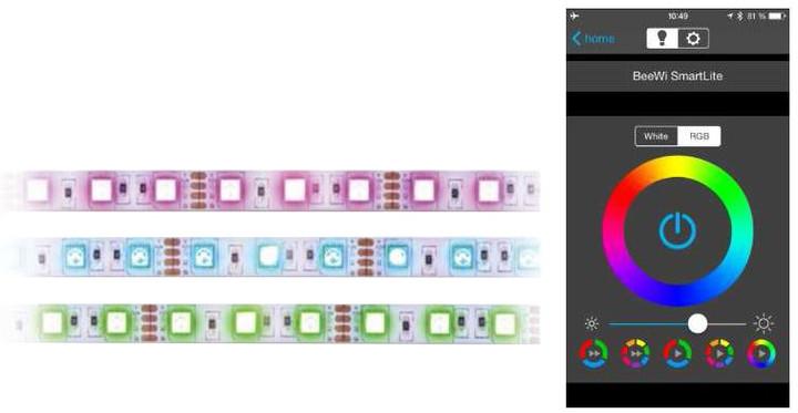 BeeWi Bluetooth Smart RGB programovatelný LED pásek, 2metry
