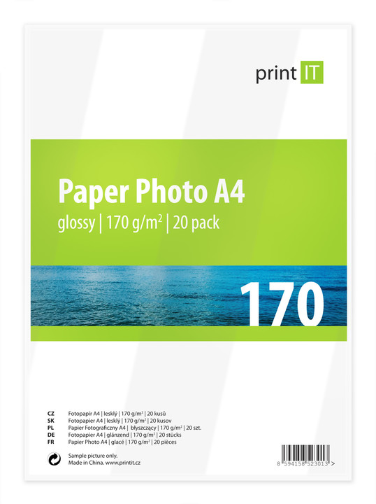 PRINT IT Paper Photo A4 170 g/m2 Glossy 20ks
