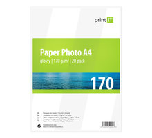 PRINT IT Paper Photo A4 170 g/m2 Glossy 20ks