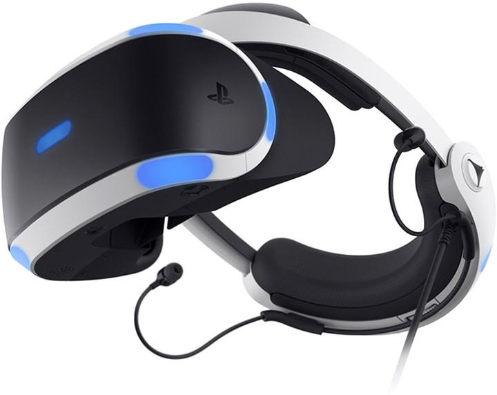 PlayStation VR v2 + Kamera v2 + 5 her (VR Worlds, Skyrim VR, Doom VR, Astrobot, Wipeout)