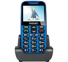 Evolveo EasyPhone XD s nabíjecím stojánkem, Blue - EP-600-XDL