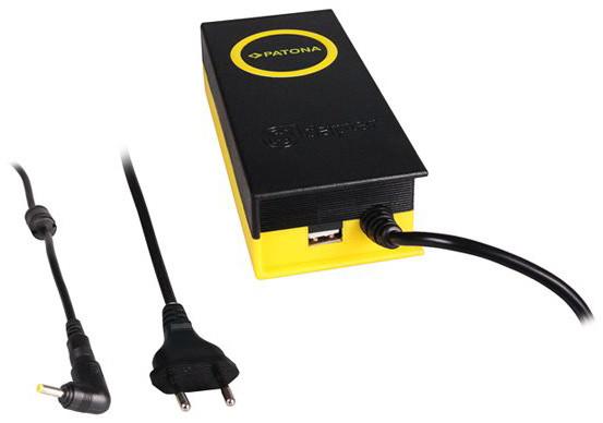 Patona napájecí adaptér k ntb/ 19,5V/4,7A 90W/ konektor 4x1,7mm/ + výstup USB