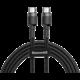 Baseus odolný kabel Series Type-C PD2.0 60W Flash Charge kabel (20V 3A) 2M, šedo/černá