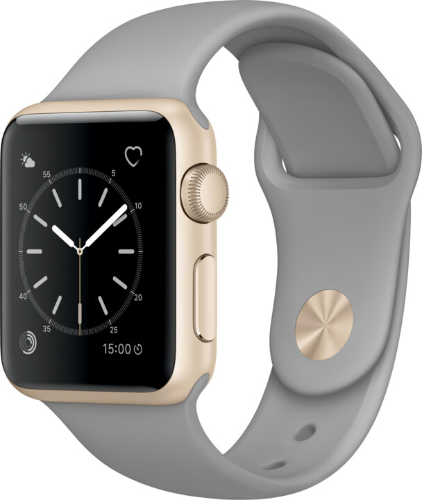 Apple Watch 38mm Gold Aluminium Case with Concrete Sport Band