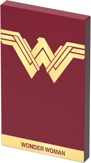Tribe DC Movie Wonder Worman 4000mAh Power Bank - Červená