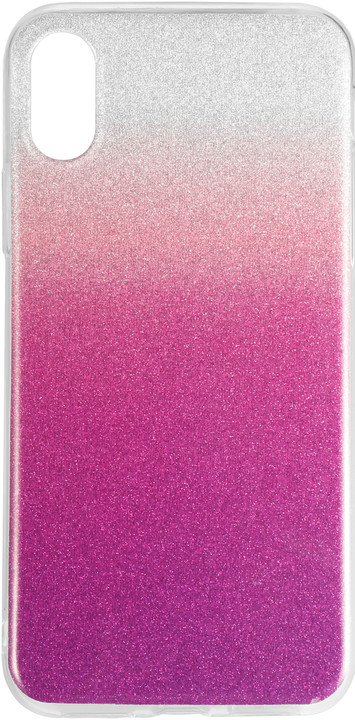 EPICO Pružný plastový kryt pro iPhone X / iPhone Xs GRADIENT, stříbrný/fialový