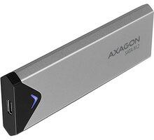 Externí box AXAGON EEM2-U3C, stříbrná