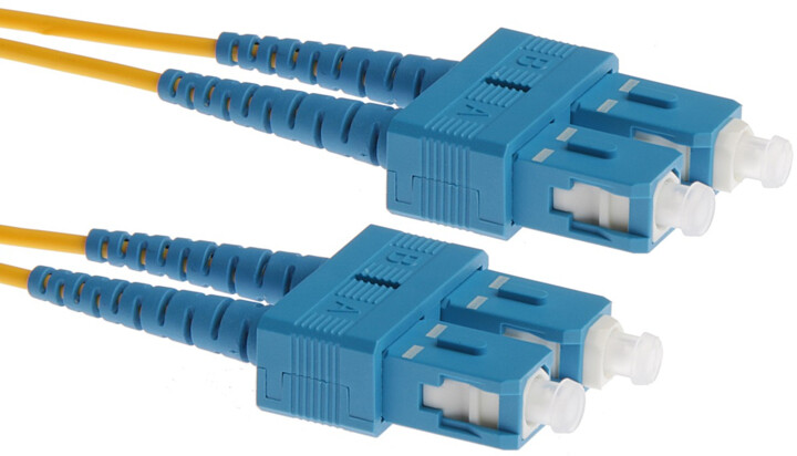 Masterlan optický patch cord, SCupc/SCupc, Duplex, Singlemode 9/125, 3m