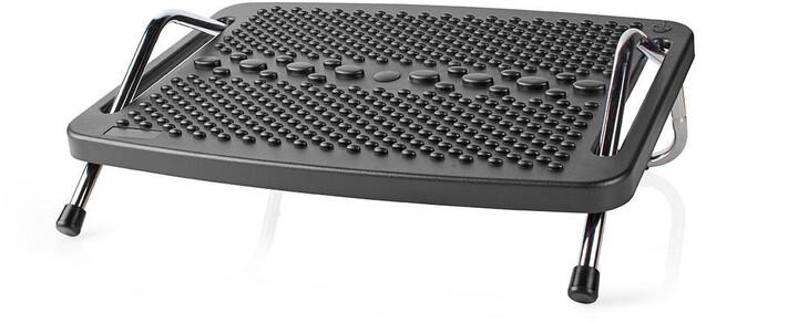 Nedis ergonomická podnožka, kovová, černá