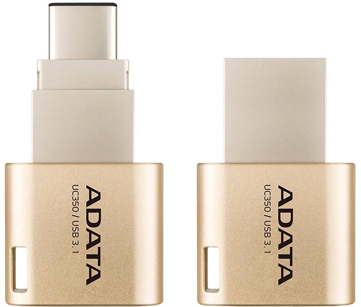 ADATA UC350 - 32GB, USB 3.1/USB-C zlatá