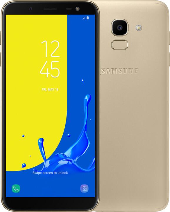 Samsung Galaxy J6, 3GB/32GB, zlatá