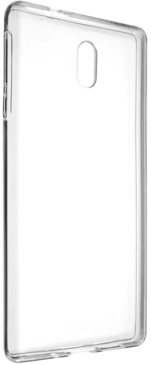 FIXED TPU gelové pouzdro pro Nokia 3, čiré