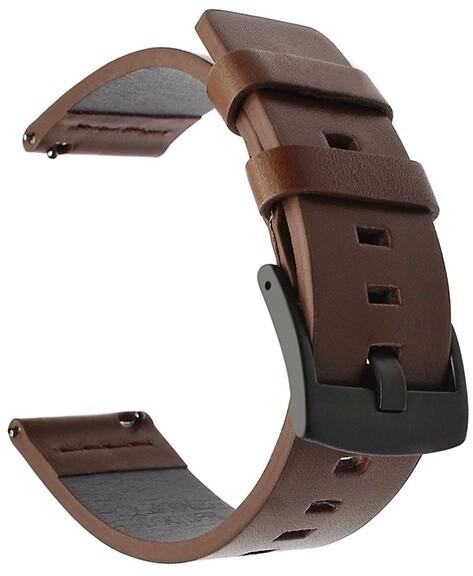 Tactical 308 kožený řemínek pro Huawei Watch GT/GT Active/GT2 Pro, 22mm, hnědá