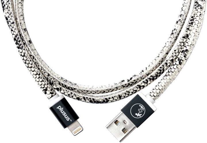 PlusUs LifeStar Handcrafted USB Charge & Sync cable (1m) Lightning - Black / White