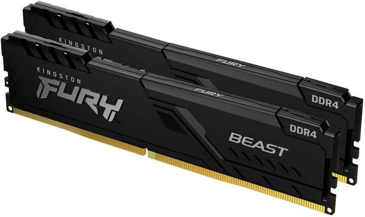 Kingston Fury Beast Black 16GB (2x8GB) DDR4 2666 CL16